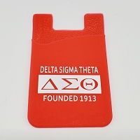 Delta Sigma Theta Silicone Card Holder